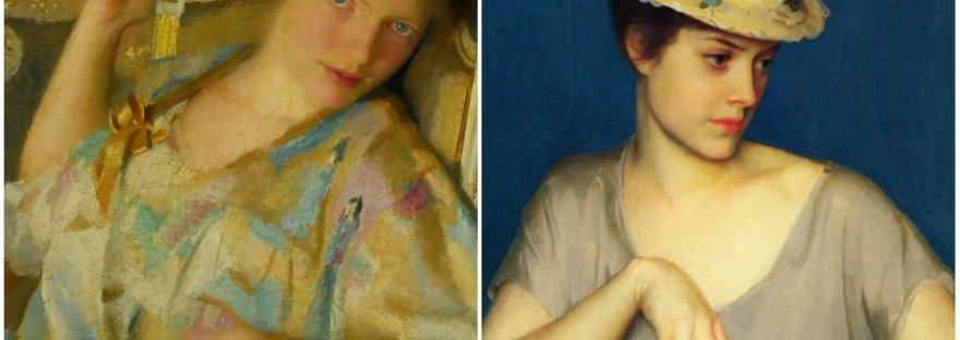 insouciance classic art by William McGregor Paxton collage via lawhimsy