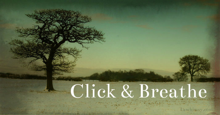 December winterscape click and breathe centering meditation via Lawhimsy
