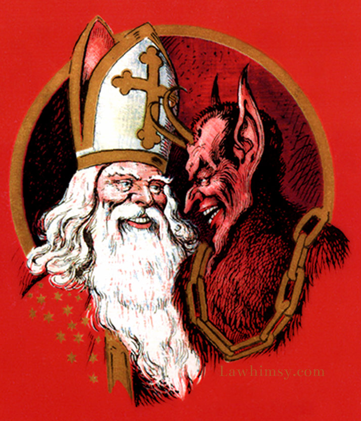 Krampus and St Nicholas yin and yang via LaWhimsy