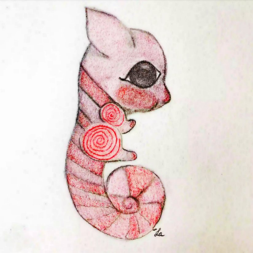 Seahorse Kitten Attack of Cuteness Illustration by Ella of LaWhimsy