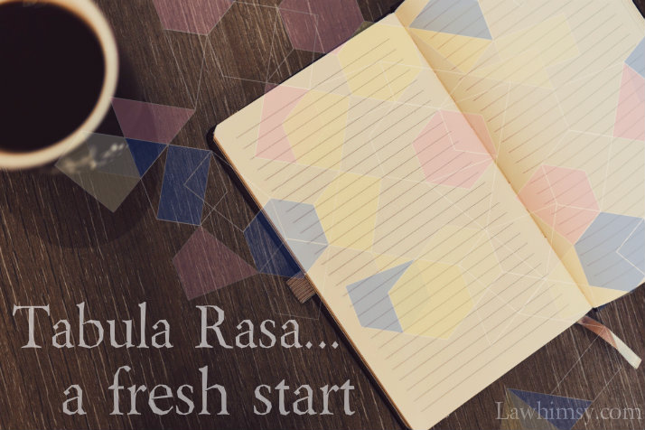 tabula rasa in a new year, a fresh notebook via LaWhimsy