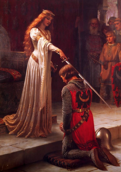 chivalry in The Accolade by Sir Edmund Blair Leighton, 1901 via LaWhimsy