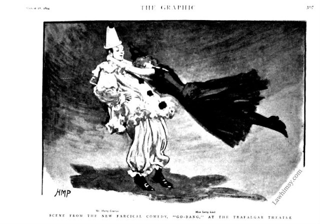 Scene from the new farcical comedy Go-Bang from March 17 1894 The Graphic via LaWhimsy