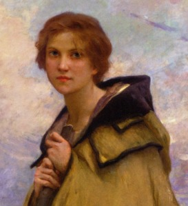 Boketto lass by Charles Amable Lenoir - LaBergere crop via LaWhimsy