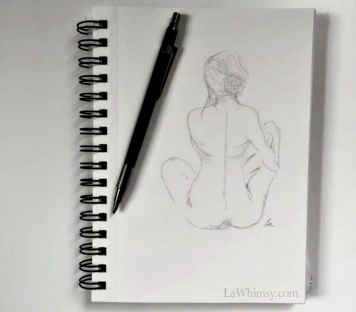 croquis back sketch by Ella Patrice via LaWhimsy