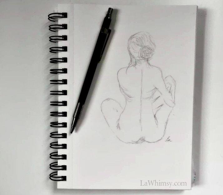 croquis back sketch by Ella Patrice via LaWhimsy