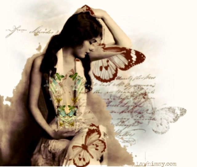 collywobbles vintage queen digital art collage by LaWhimsy