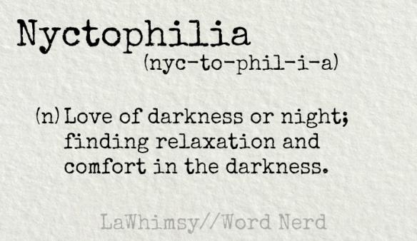 Word Nerd Nyctophilia Lawhimsy