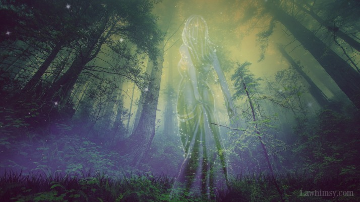 Draíocht Forest Guardian Spirit digital art collage by Ella of LaWhimsy