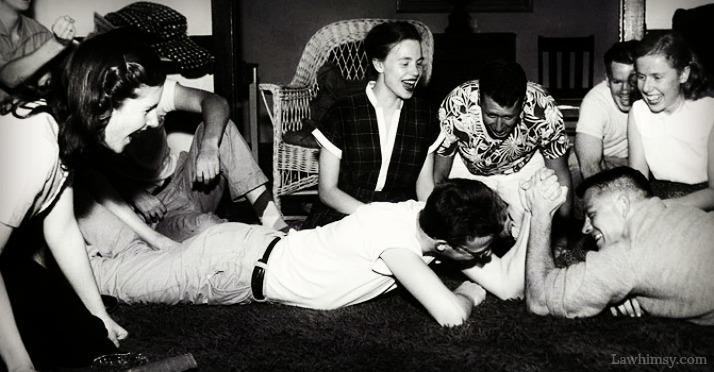 bonhomie group of friends vintage photo via LaWhimsy