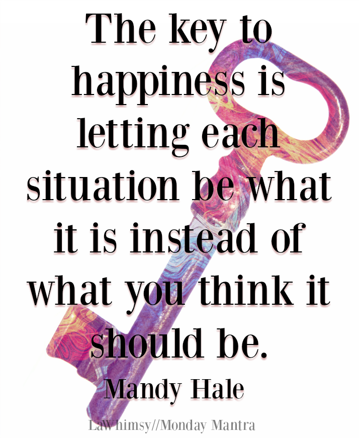 The key to happiness Mandy Hale quote Monday Mantra 181 via LaWhimsy