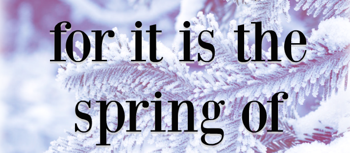 Let us love winter for it is the spring of genius Pietro Aretino quote Monday Mantra 184 via LaWhimsy