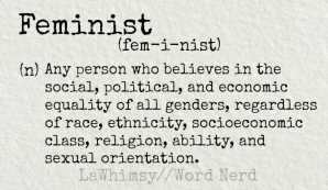 feminist definition Word Nerd via LaWhimsy