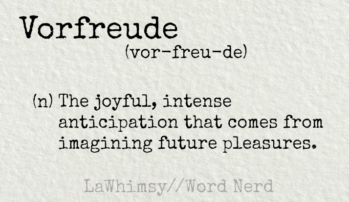 vorfreude definition Word Nerd via LaWhimsy