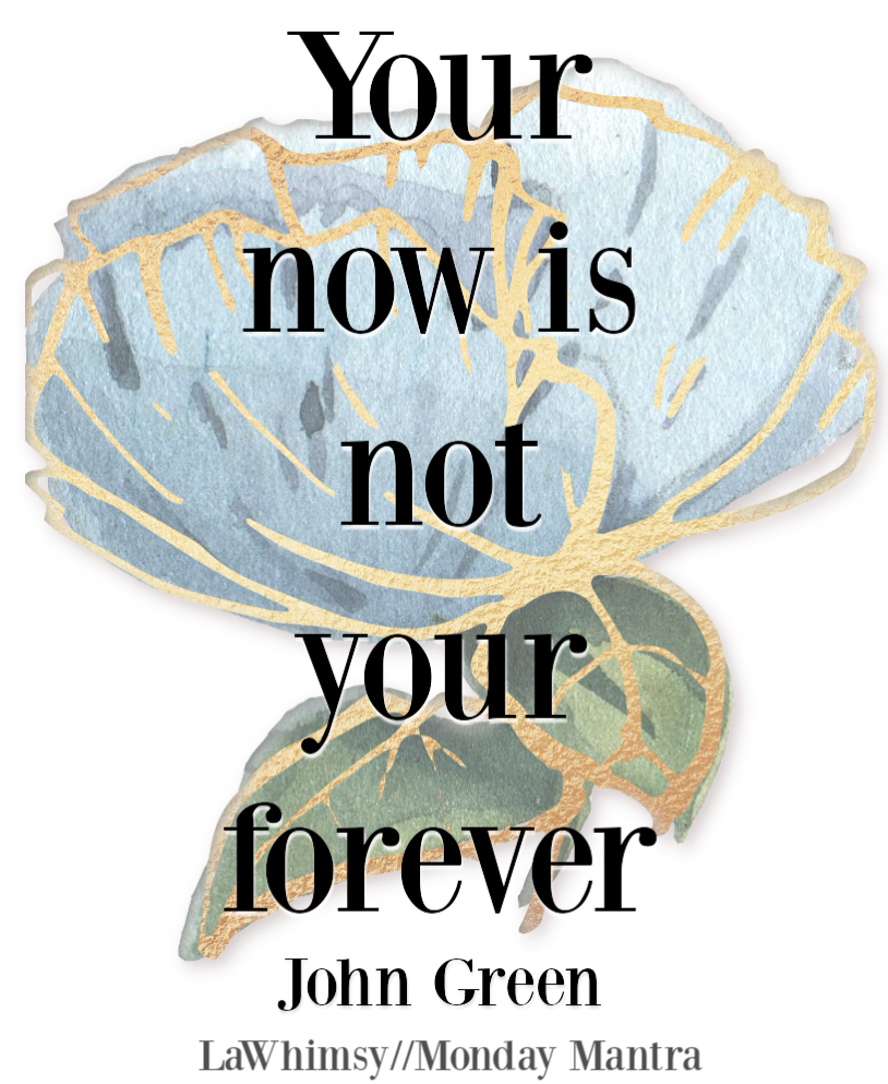 Your now is not your forever John Green quote Monday Mantra 206 via LaWhimsy