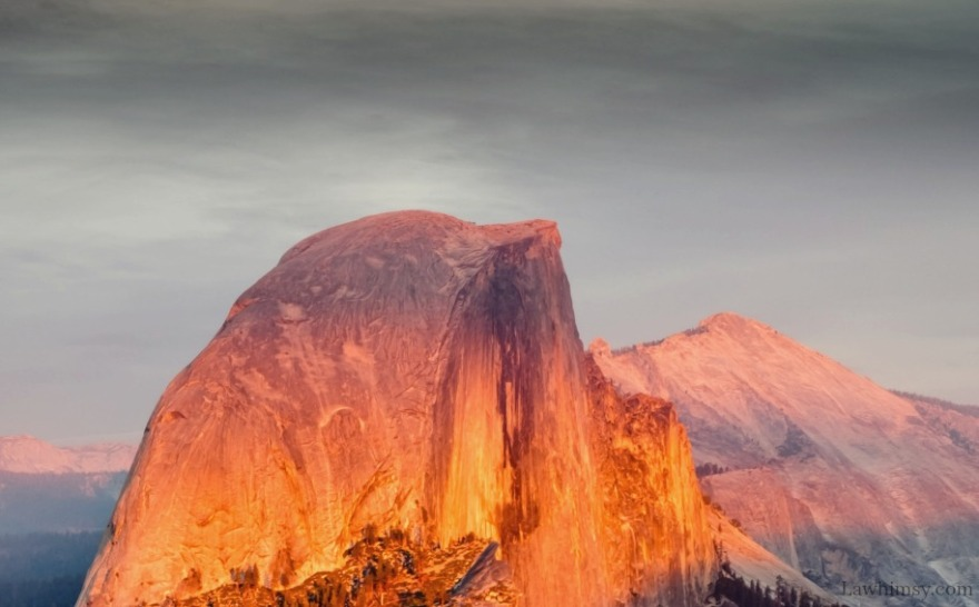 alpenglow upon the mountain peaks crop from photo by Madhu Shesharam via LaWhimsy