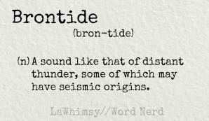 brontide definition Word Nerd