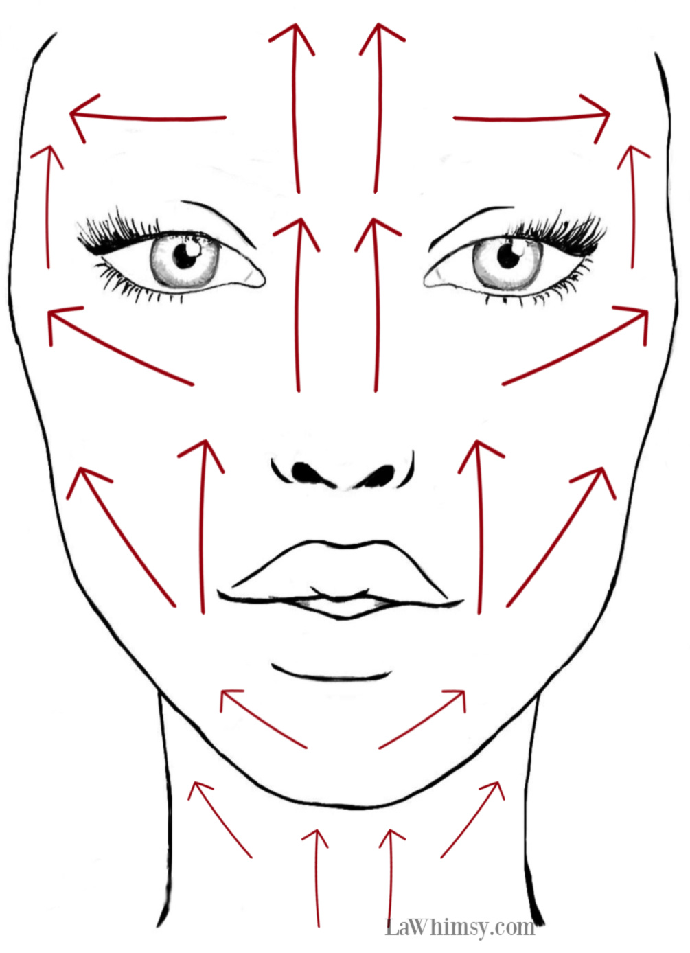 Jade Rolling Facial Rolling Guide Map via LaWhimsy