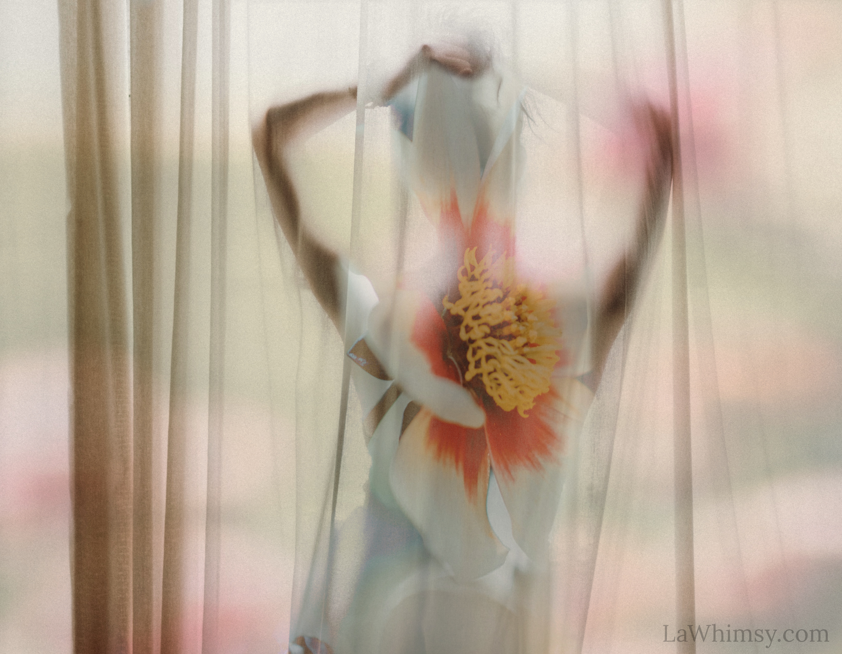 floral reverie digital art collage by Ella Patrice of LaWhimsy